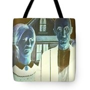 American Gothic In Negative Tote Bag