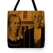 American Gothic In Orange Tote Bag