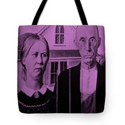 American Gothic In Pink Tote Bag