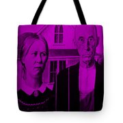 American Gothic In Purple Tote Bag