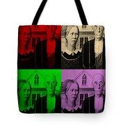 American Gothic In Quad Colors Tote Bag