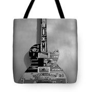 American Guitar In Black And White Tote Bag