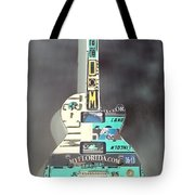 American Guitar In Neagtive Tote Bag