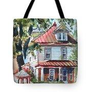 American Home With Children's Gazebo Tote Bag