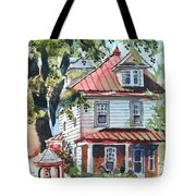 American Home With Children's Gazebo Tote Bag by Kip DeVore