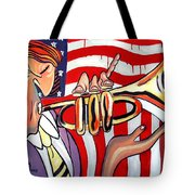 American Jazz Man Tote Bag