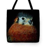 American Kestrel Digital Art Tote Bag