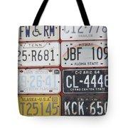American License Plates Tote Bag