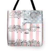 American Made Corvette Patent Tote Bag