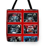 American Muscle Red Poster Tote Bag