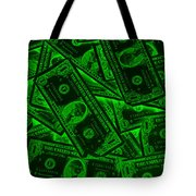 American One Dollar Bills Pop Art Tote Bag
