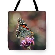 American Painted Lady Butterfly 2014 Tote Bag