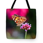American Painted Lady Butterfly Pink Tote Bag