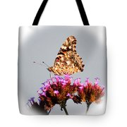 American Painted Lady Butterfly White Square Tote Bag