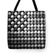 American Pastime In Black And White Tote Bag