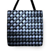 American Pastime In Cyan Tote Bag