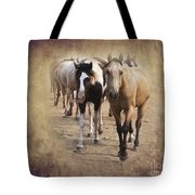 American Quarter Horse Herd Tote Bag by Betty LaRue