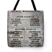 American Revolutionary War Generals Tote Bag