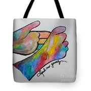 American Sign Language ... Lead Me Gently Tote Bag by Eloise Schneider
