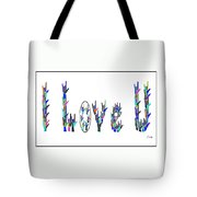 American Sign Language I Love You On White Tote Bag