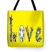 American Sign Language Love Hands Tote Bag
