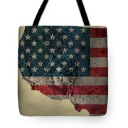 American West Topography Map Tote Bag