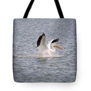 American White Pelican Landing 3 Tote Bag