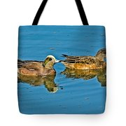 American Wigeon Pair Swimming Tote Bag