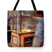 Americana - Candy - Getting Cotton Candy  Tote Bag by Mike Savad