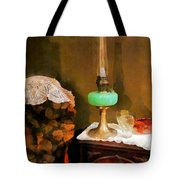 Americana - Still Life With Hurricane Lamp Tote Bag