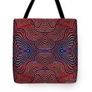 Americana Swirl Design 10 Tote Bag