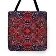 Americana Swirl Design 7 Tote Bag
