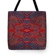 Americana Swirl Design 9 Tote Bag