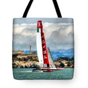 America's Cup And Alcatraz Ll Tote Bag
