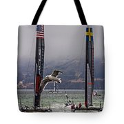 Americas Cup Oracle Team Usa V Artemis Racing Tote Bag