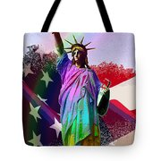 America's Statue Of Liberty Tote Bag