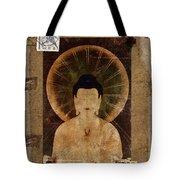 Amida Buddha Postcard Collage Tote Bag