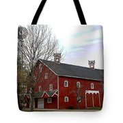 Amish Barn And Wind Mill - Allen County Indiana Tote Bag