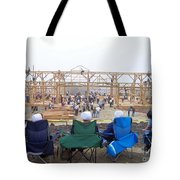 Amish Barn Raising Tote Bag