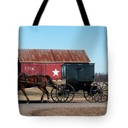 Amish Buggy And Star Barn Tote Bag