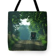 Amish  Buggy Gravel Road Tote Bag