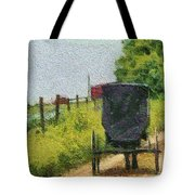 Amish Buggy In Ohio Tote Bag