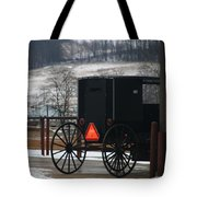 Amish Buggy In Winter Tote Bag
