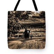 Amish Buggy On A Country Road Tote Bag