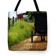 Amish Buggy On Dirt Road Tote Bag