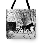 Amish Buggy Revised Tote Bag