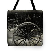 Amish Cart Wheels Grunge Tote Bag