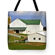 Amish Country Barn Tote Bag by Frozen in Time Fine Art Photography