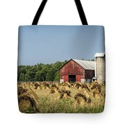 Amish Country Wheat Stacks And Barn Tote Bag
