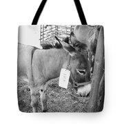 Amish Donkey At Action Tote Bag